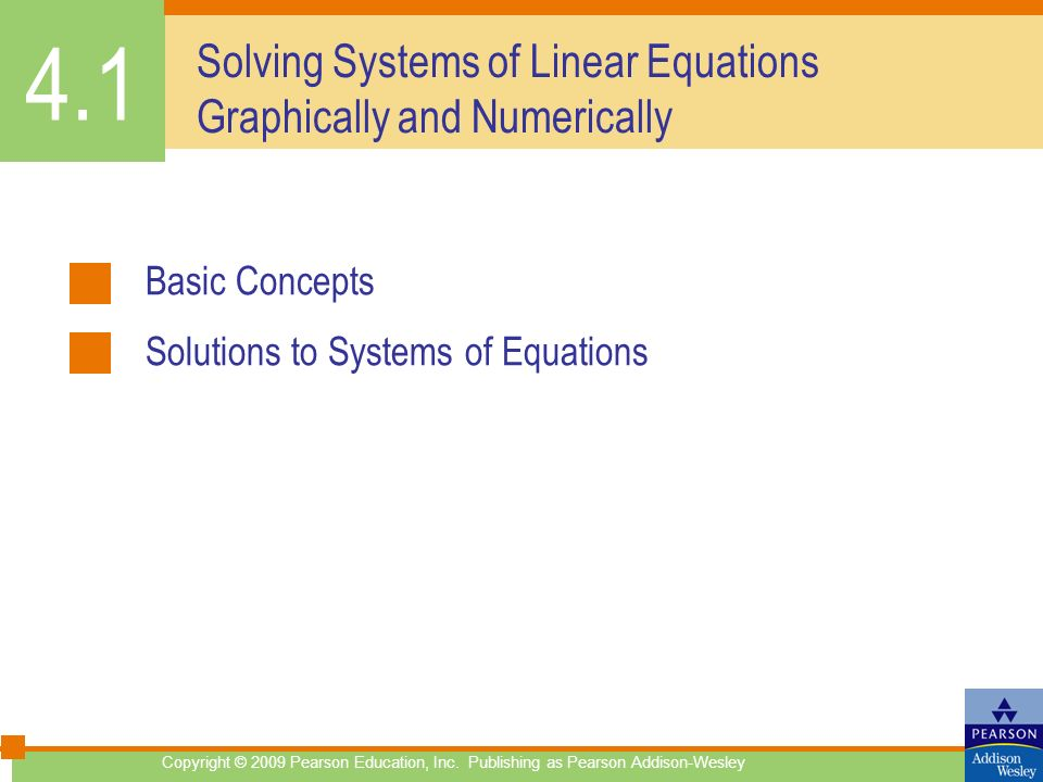 Solving Systems of Linear Equations Graphically and Numerically