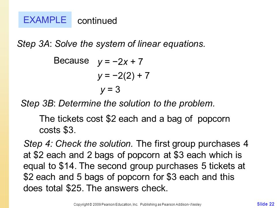 Step 3A: Solve the system of linear equations.