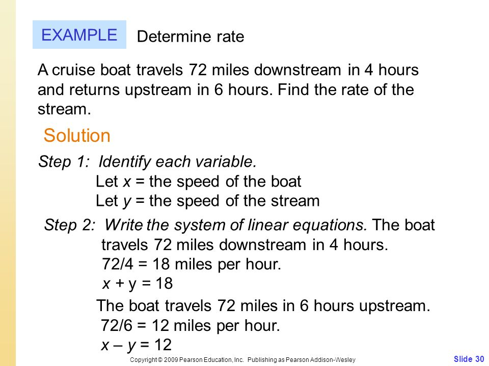 Solution EXAMPLE Determine rate