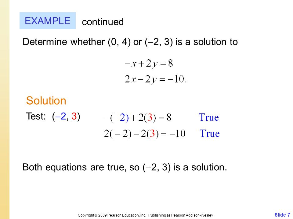 Solution EXAMPLE continued