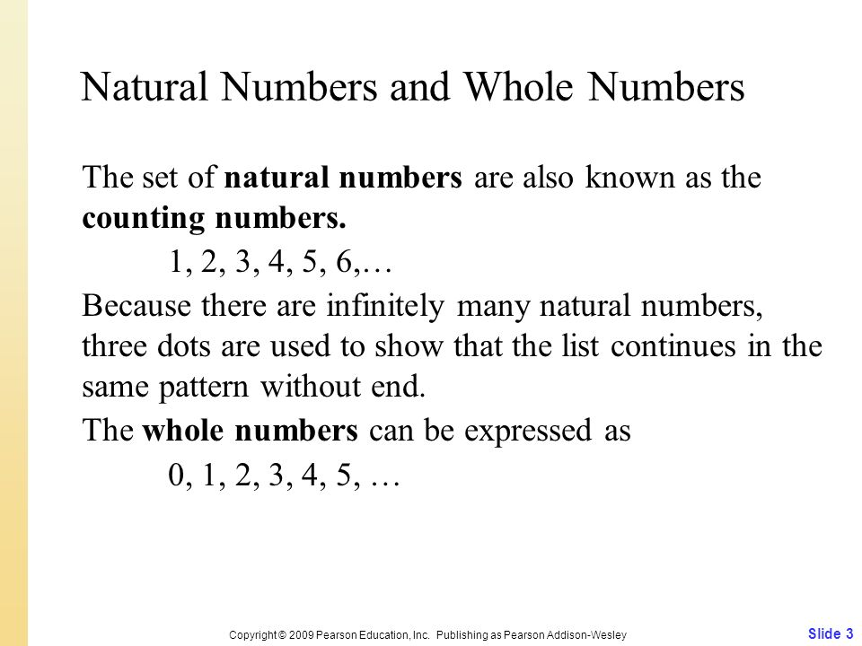 Natural Numbers and Whole Numbers
