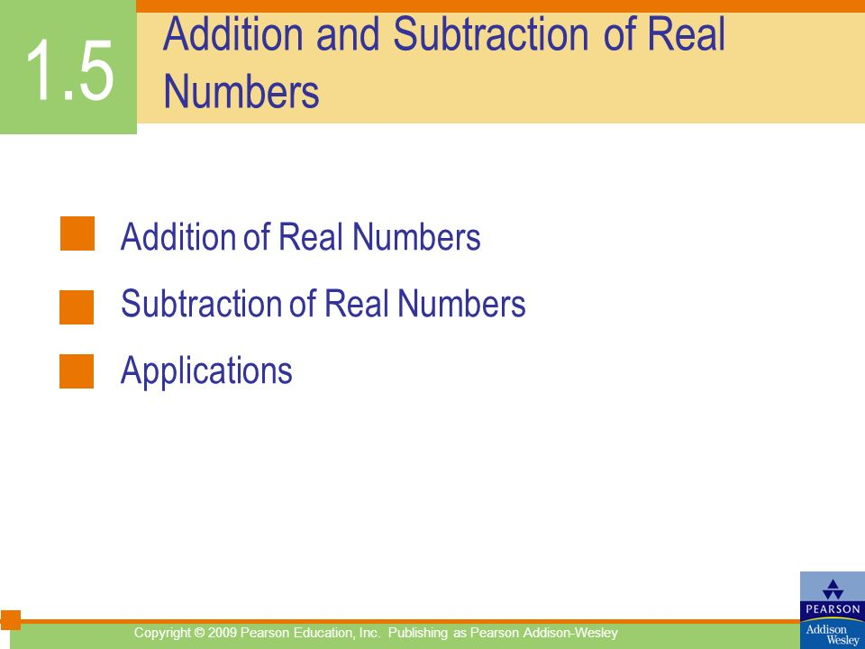 Addition and Subtraction of Real Numbers