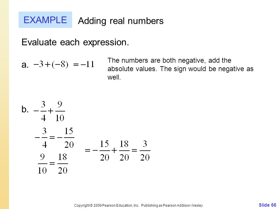 Evaluate each expression. a.