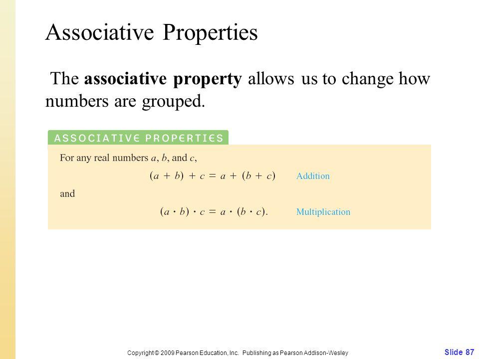 Associative Properties