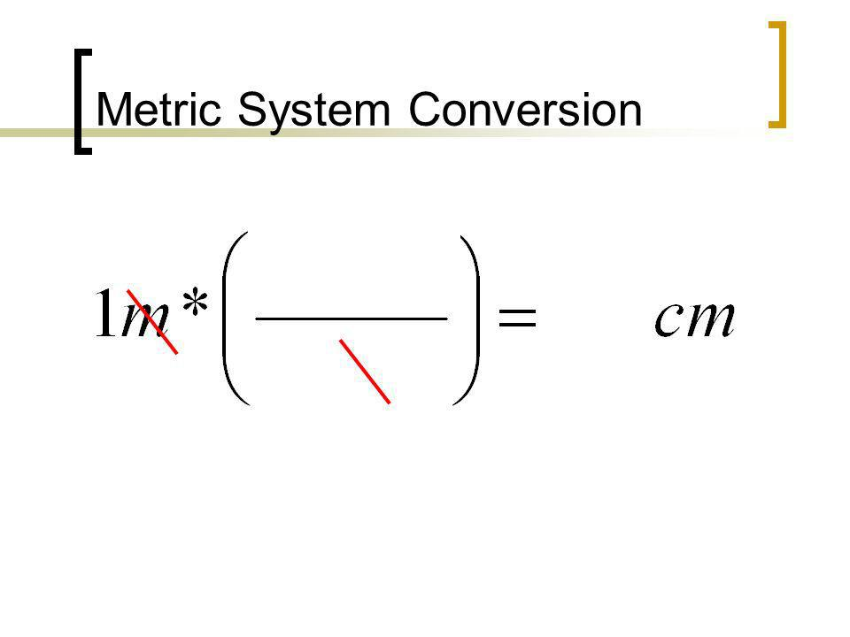 Metric System Conversion