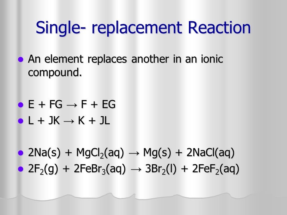 Single- replacement Reaction