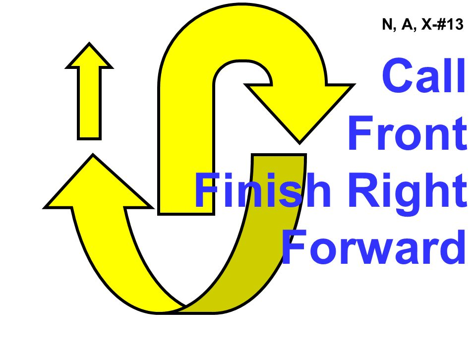 N, A, X-#13 Call Front Finish Right Forward