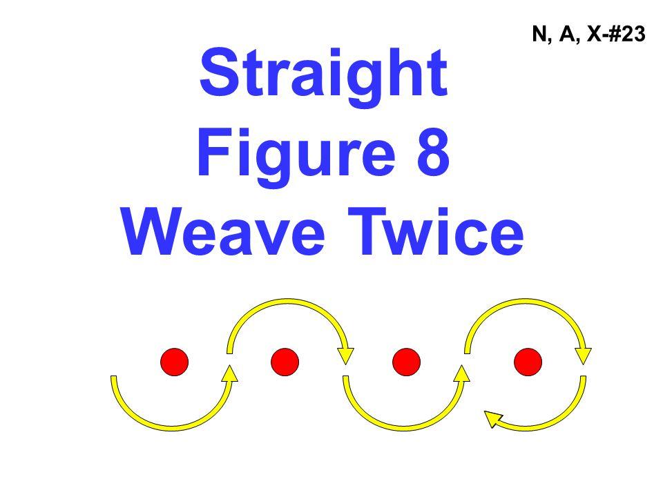 Straight Figure 8 Weave Twice