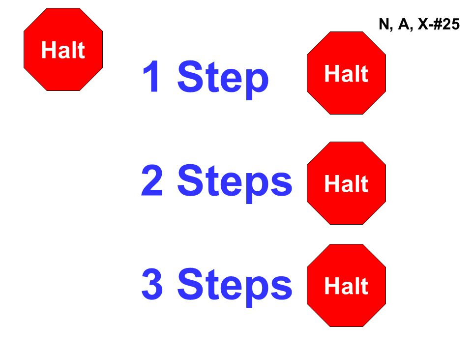 1 Step 2 Steps 3 Steps Halt N, A, X-#25