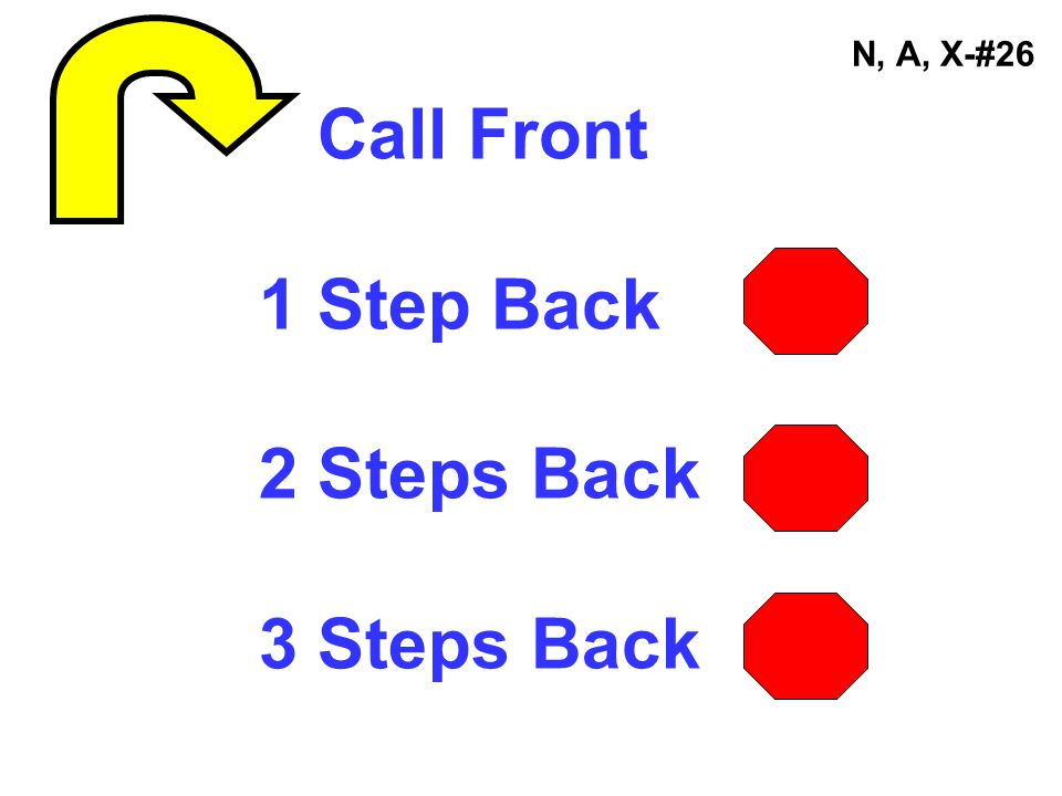 N, A, X-#26 Call Front 1 Step Back 2 Steps Back 3 Steps Back