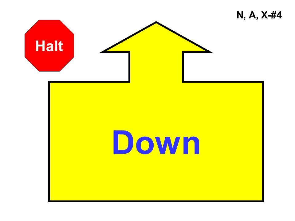 N, A, X-#4 Down Halt