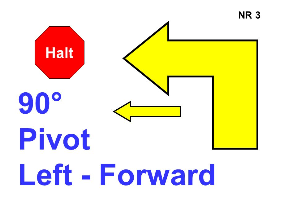 NR 3 Halt 90° Pivot Left - Forward