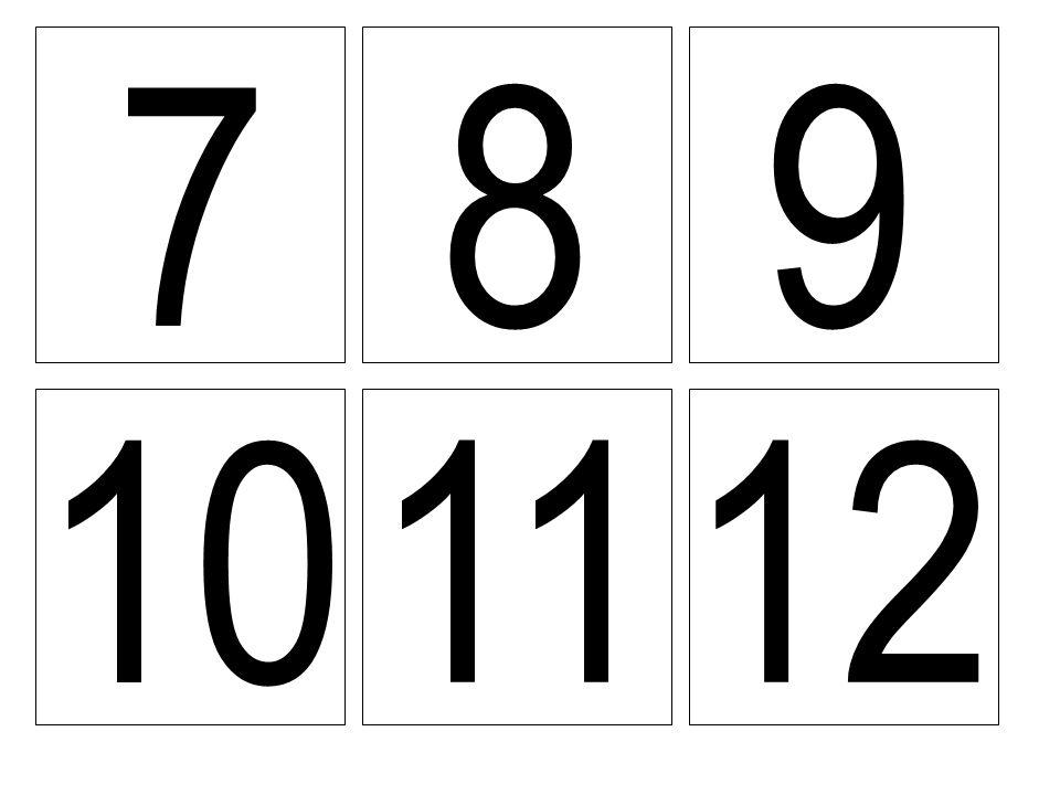7 8 9 10 11 12