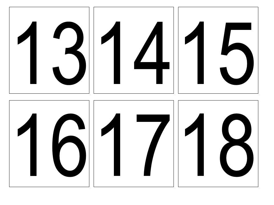 13 14 15 16 17 18