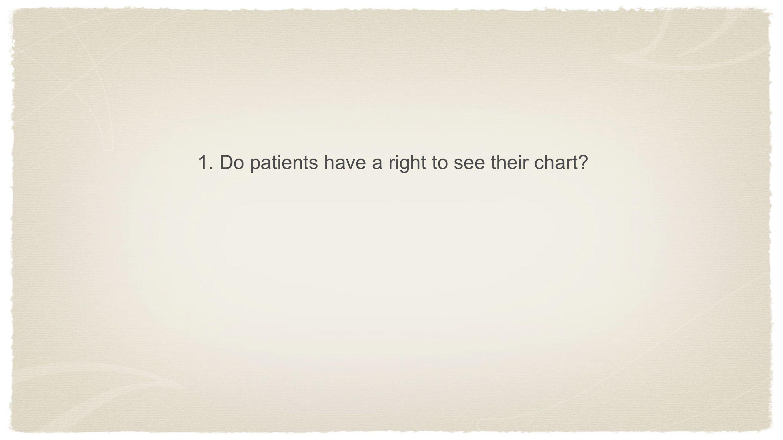1. Do patients have a right to see their chart
