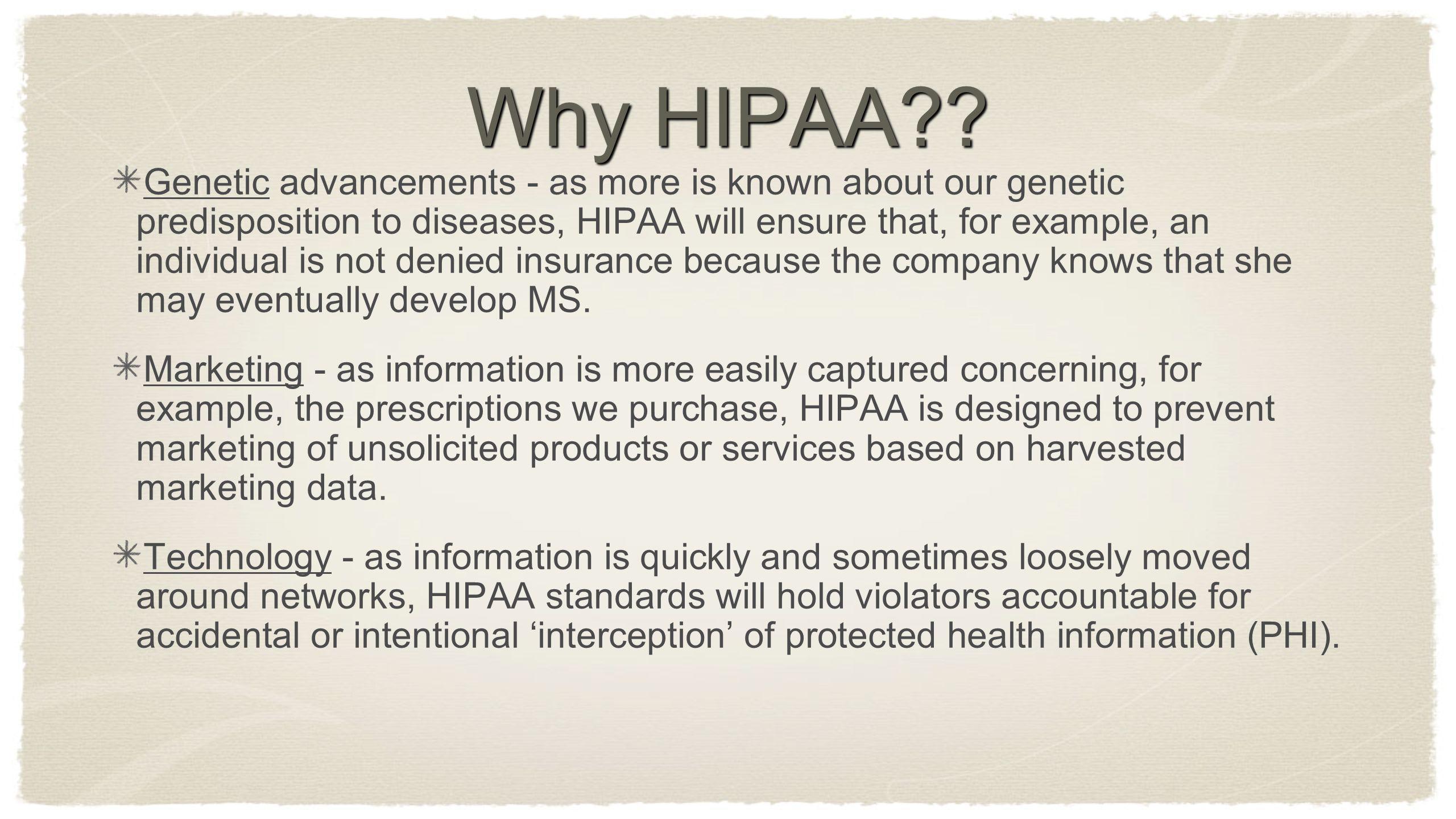 Why HIPAA