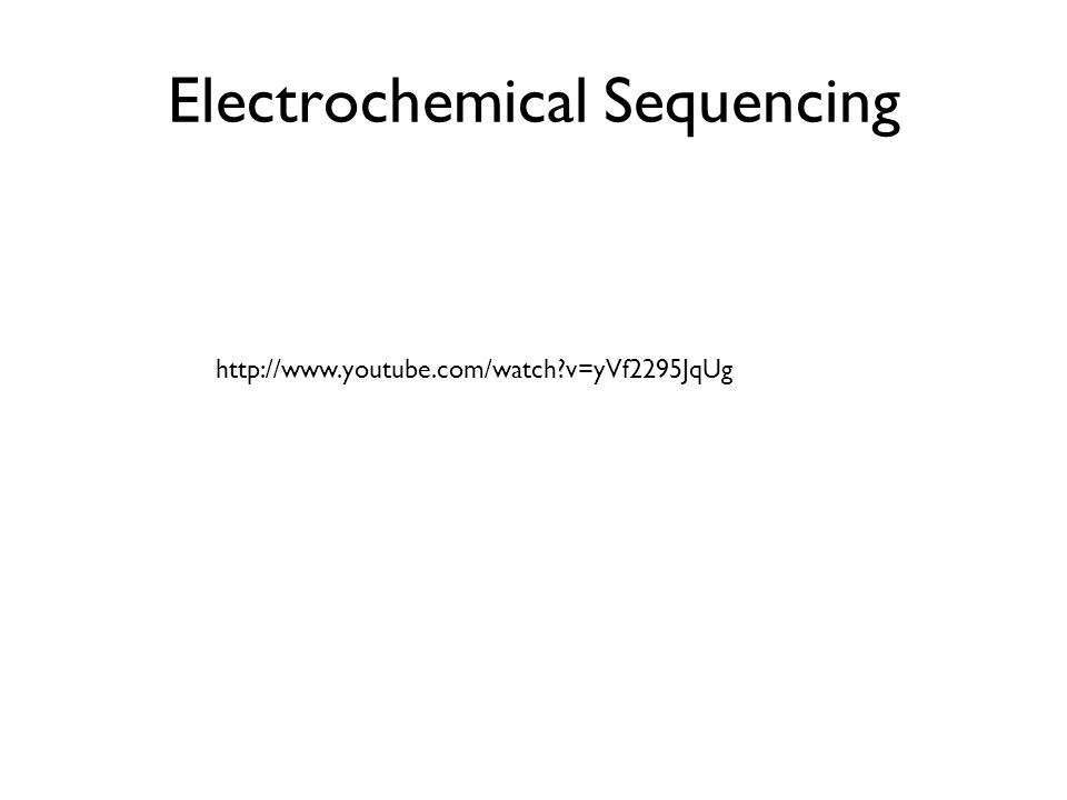 Electrochemical Sequencing