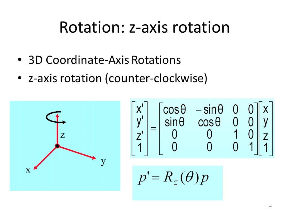 Rotation: z-axis rotation