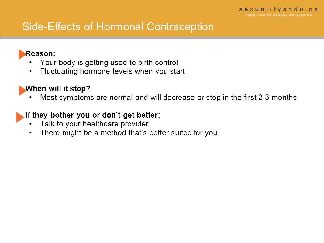 Side-Effects of Hormonal Contraception