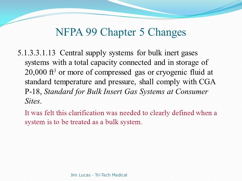 NFPA 99 Chapter 5 Changes