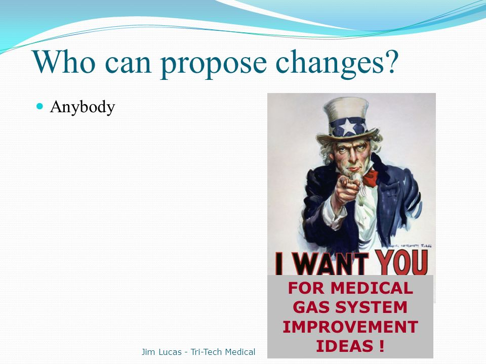 Who can propose changes