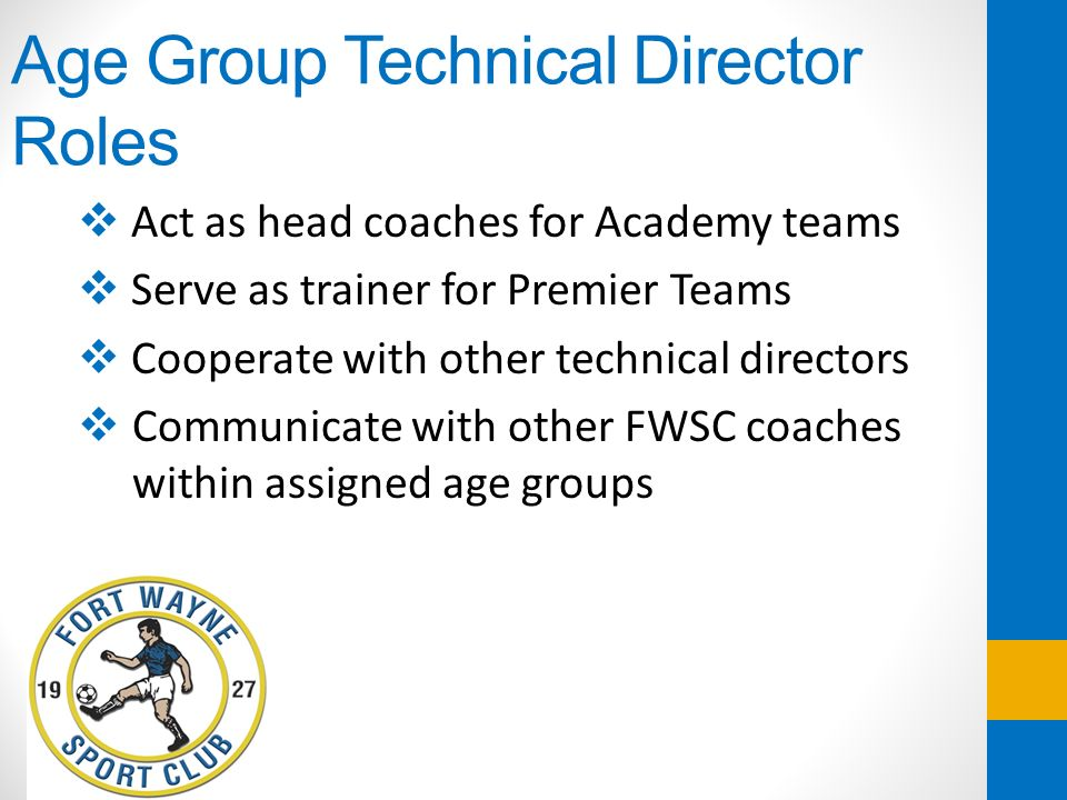 Age Group Technical Director Roles