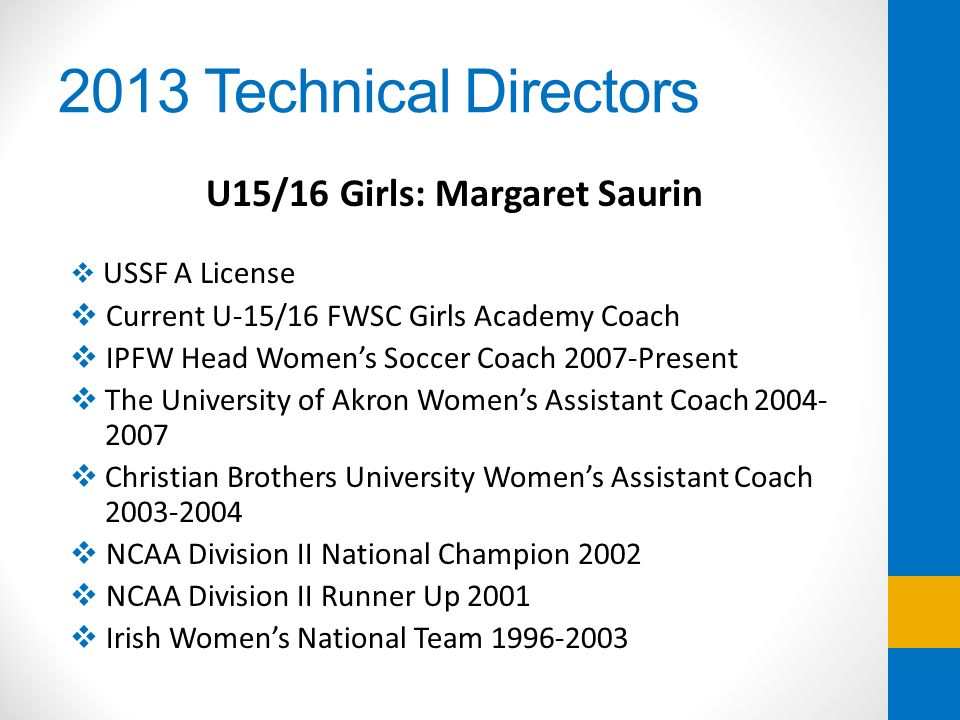 U15/16 Girls: Margaret Saurin