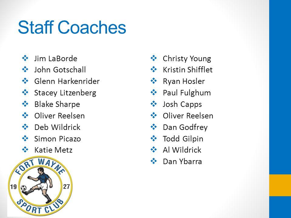 Staff Coaches Jim LaBorde John Gotschall Glenn Harkenrider