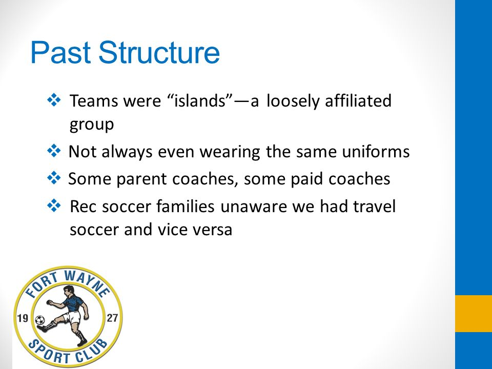 Past Structure Teams were islands —a loosely affiliated group
