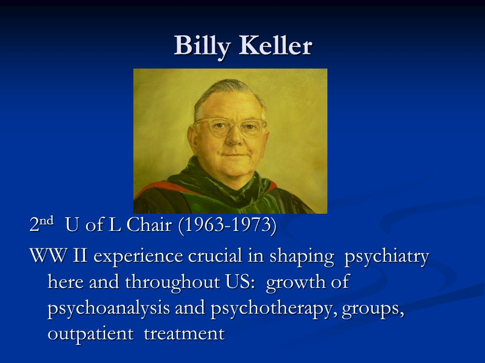 Billy Keller 2nd U of L Chair (1963-1973)