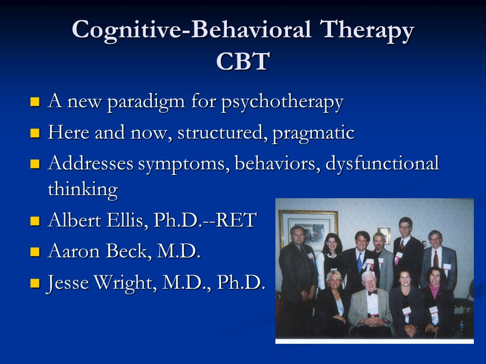 Cognitive-Behavioral Therapy CBT