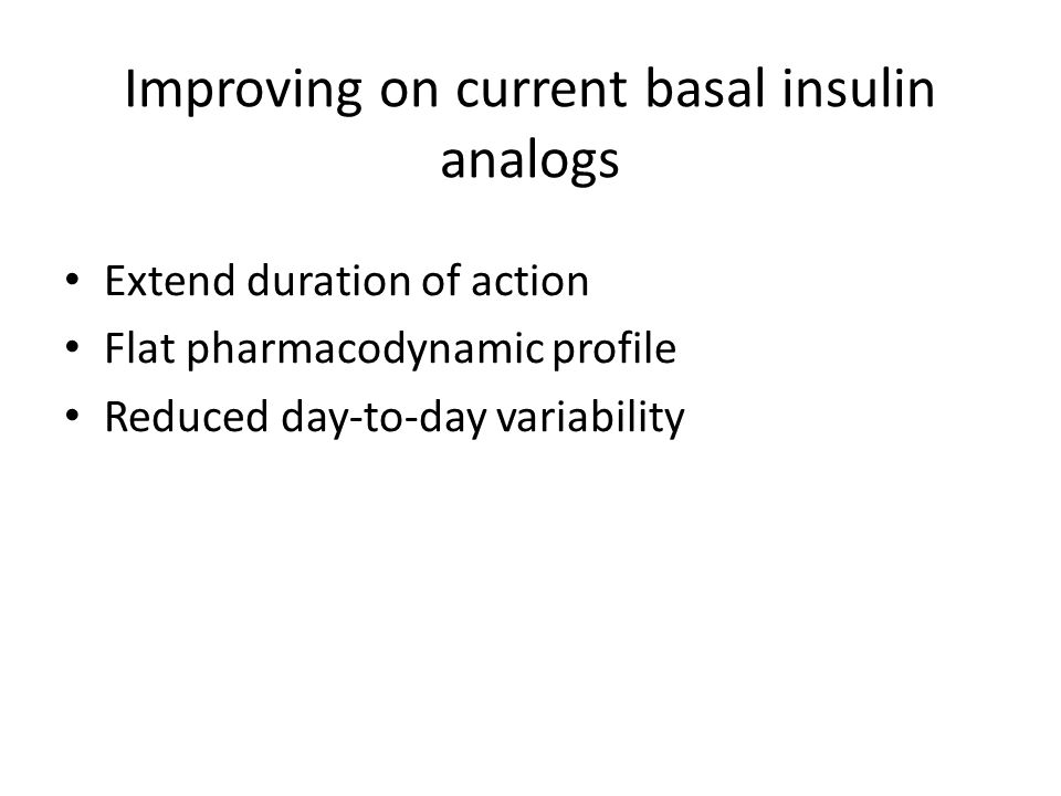 Improving on current basal insulin analogs