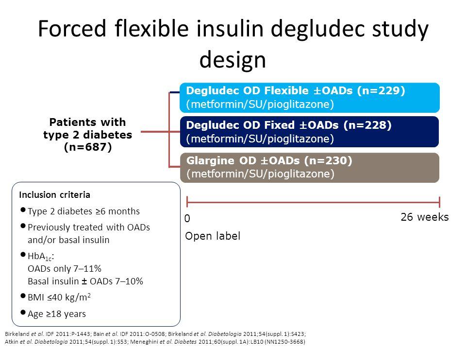 Forced flexible insulin degludec study design