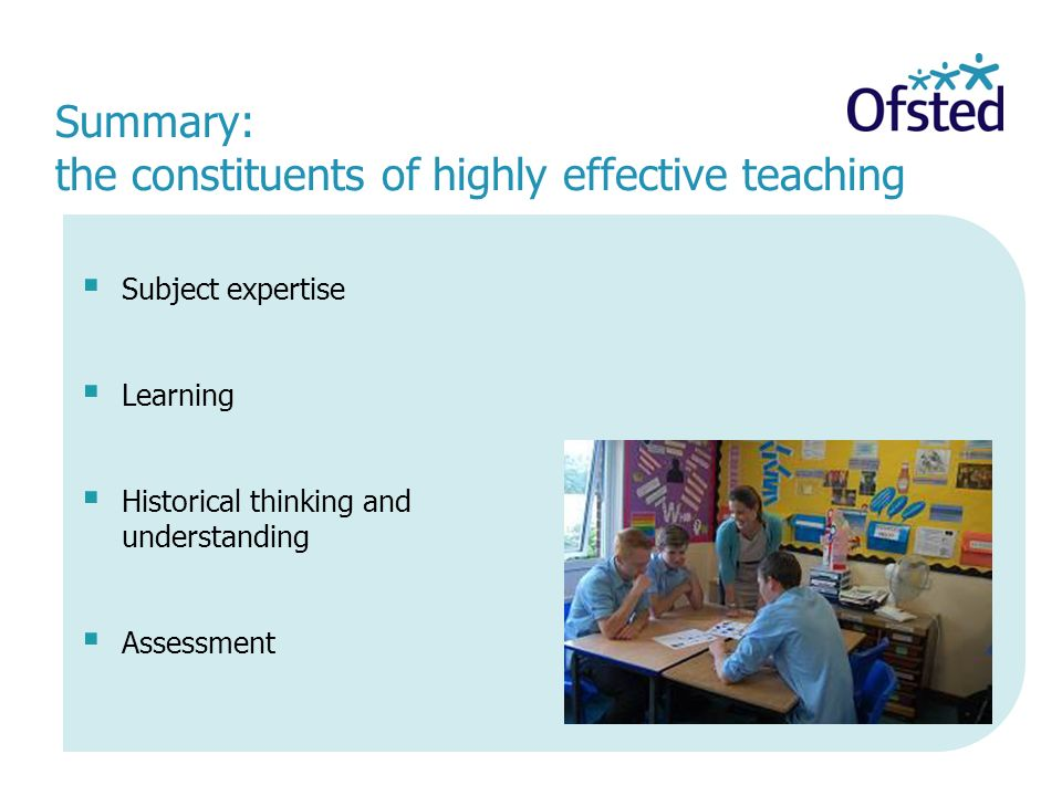 Summary: the constituents of highly effective teaching