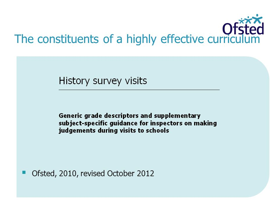The constituents of a highly effective curriculum