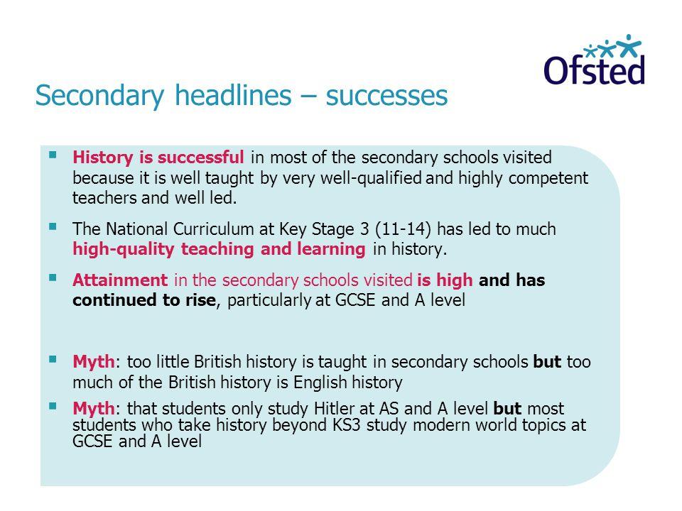 Secondary headlines – successes
