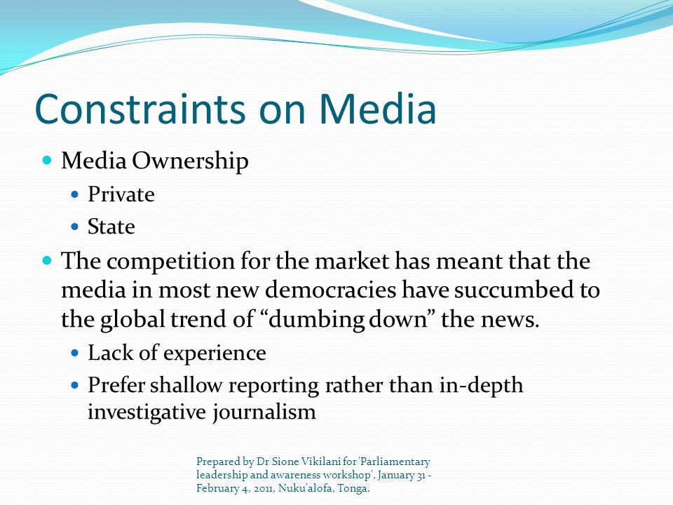 Constraints on Media Media Ownership
