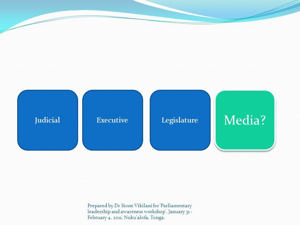 Media Judicial Executive Legislature