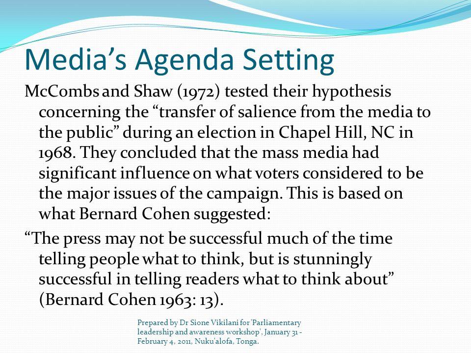 Media's Agenda Setting