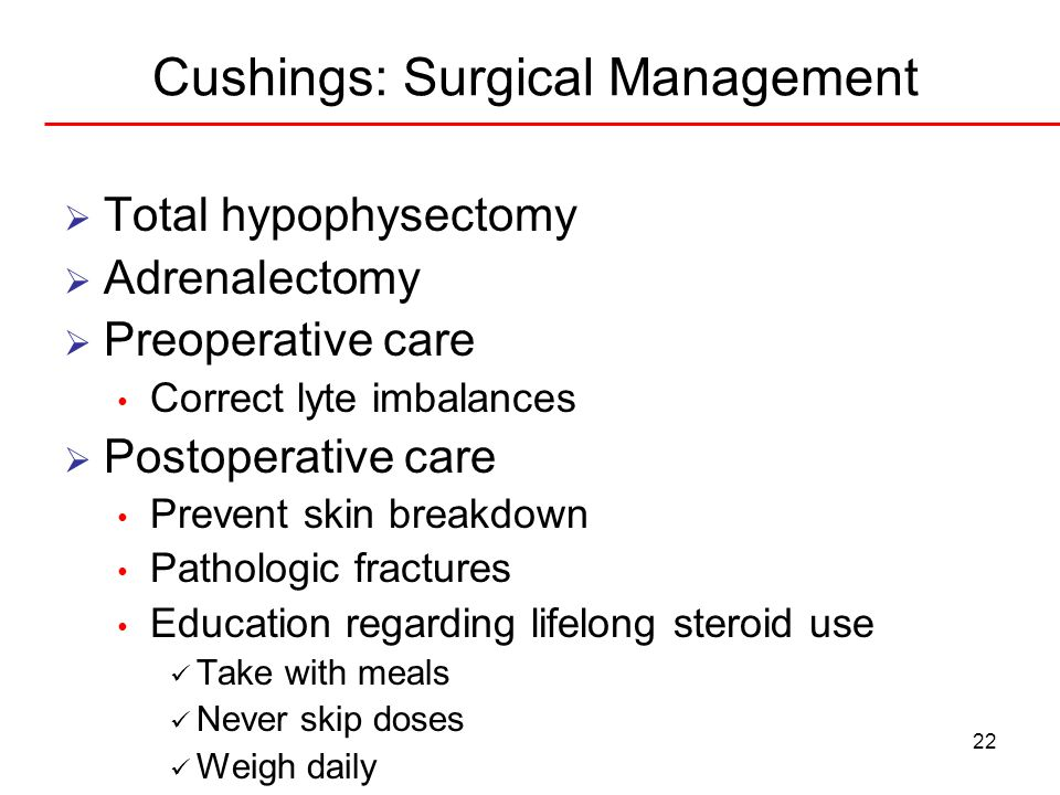 Cushings: Surgical Management