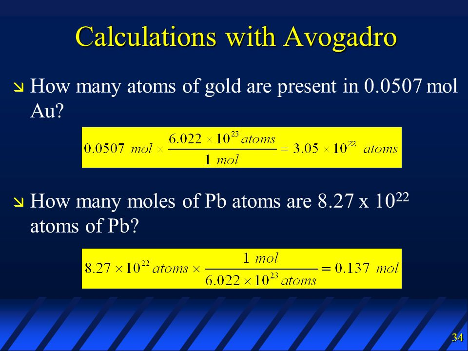 Calculations with Avogadro