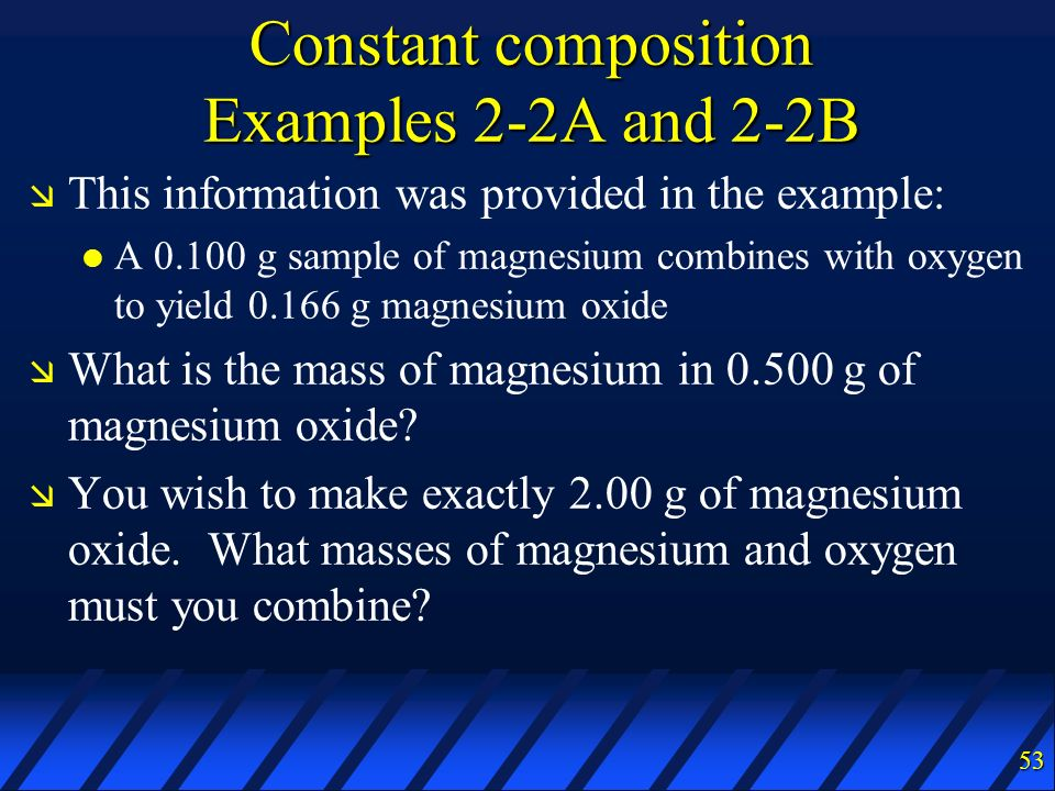 Constant composition Examples 2-2A and 2-2B