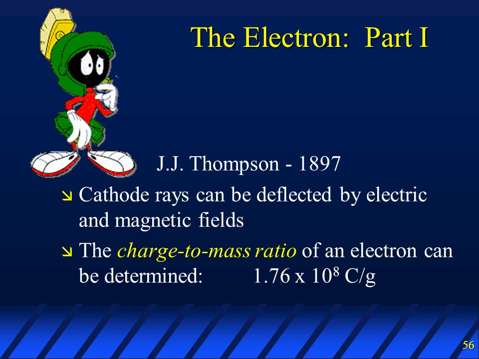 The Electron: Part I J.J. Thompson - 1897