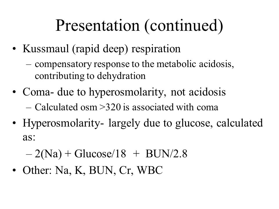 Presentation (continued)