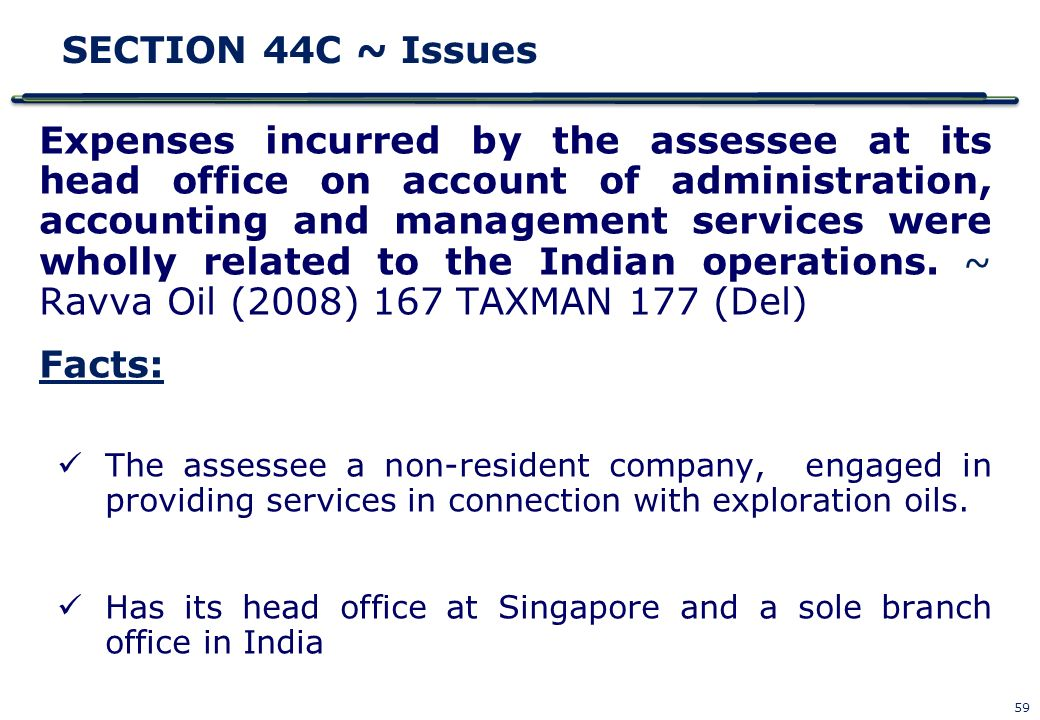 SECTION 44C ~ Issues
