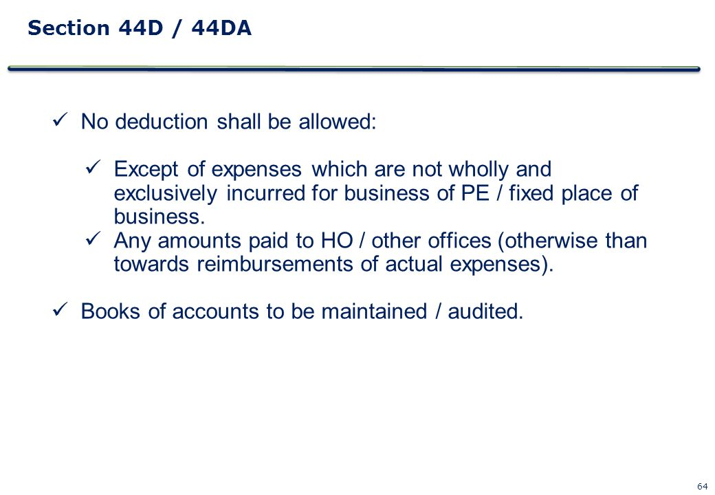 No deduction shall be allowed: