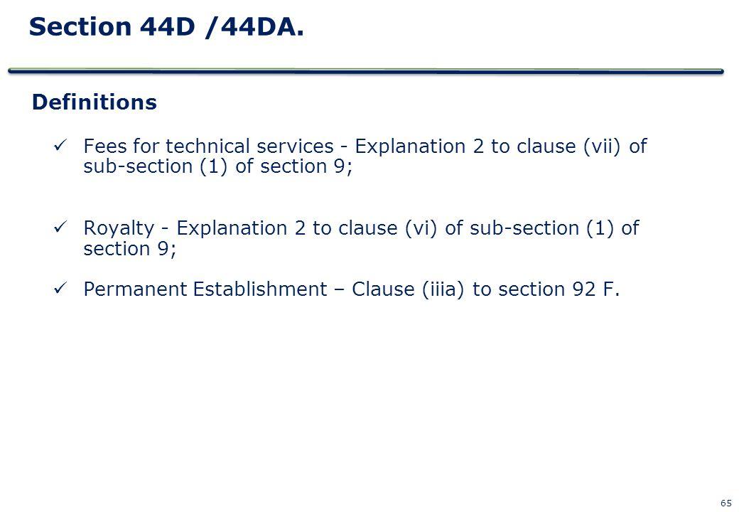 Section 44D /44DA. Definitions