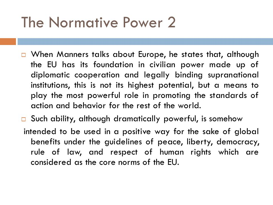 The Normative Power 2