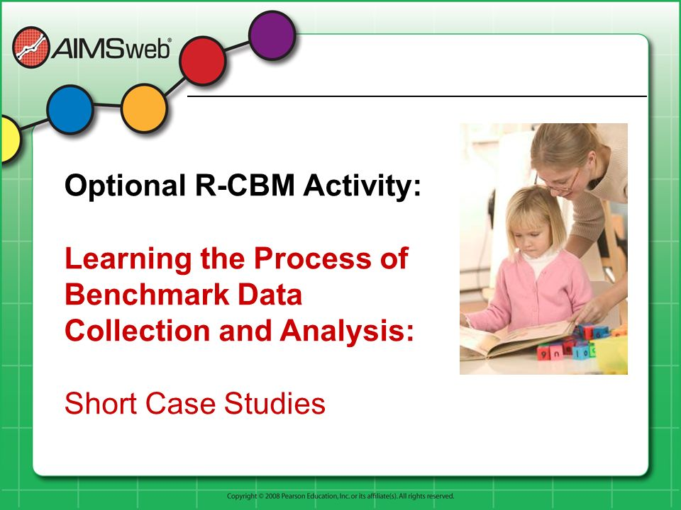 Optional R-CBM Activity: Learning the Process of Benchmark Data Collection and Analysis: Short Case Studies