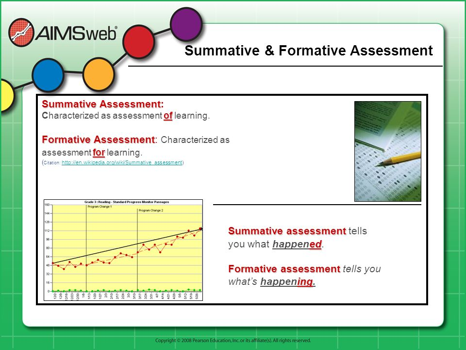 Summative & Formative Assessment